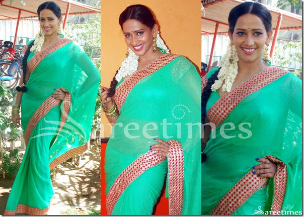Sanjana_Singh_Green_Saree