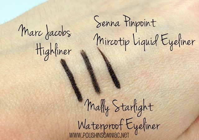 Makeup Wars - Favorite Black Eyeliners swatched