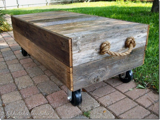 diy factory cart style coffee table 4