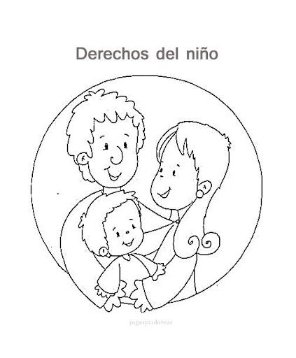 Dibujos para imprimir y colorear de los derechos de los niños - Imagui