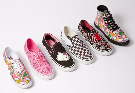 Tênis Vans Hello Kitty para meninas estilosas.