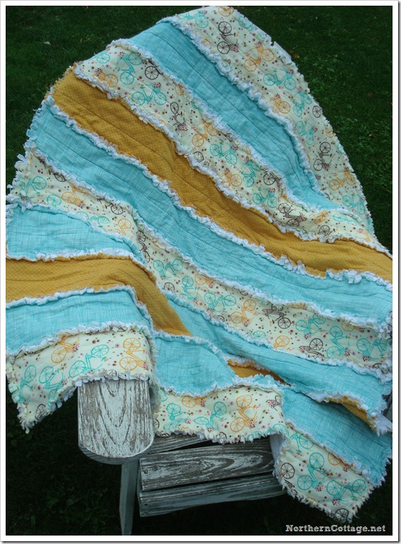 {Northern Cottage} super soft and cozy RAG QUILT