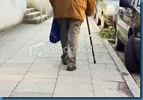 old man walking with