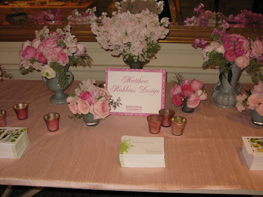 Matthew Robbins provided all of the beautiful floral arrangements and was on hand to talk to brides.