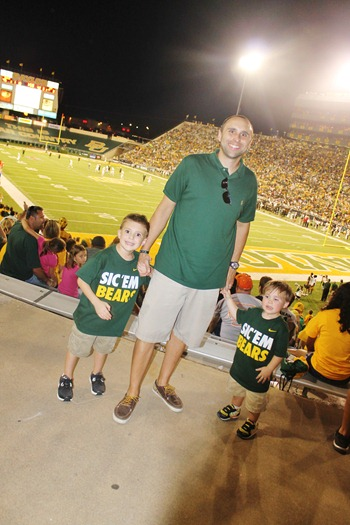 Nash's 1st day of School & Baylor Game 090