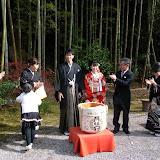 伝統的な結婚式。今も結婚式で着物を着るのは一般的。