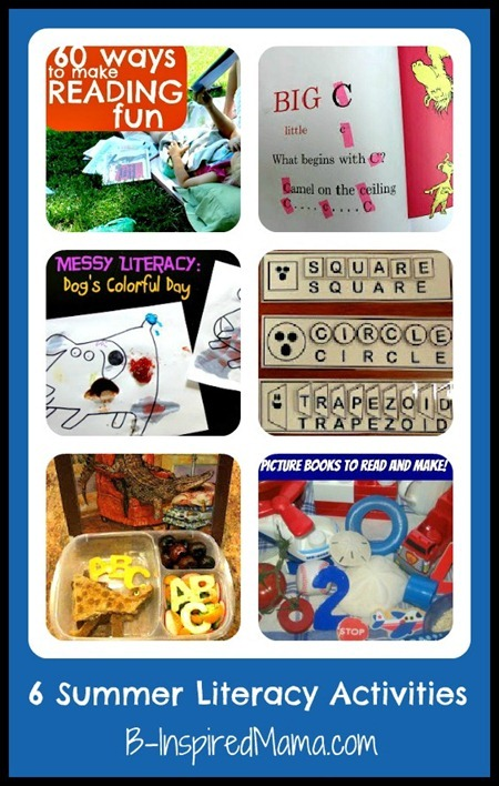summer literacy activities collage