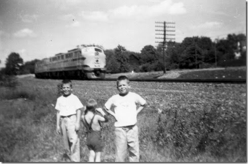 Sam,Ricky,Bill, railfanning1955style