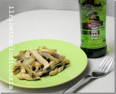 wok di pollo birra e carciofi light