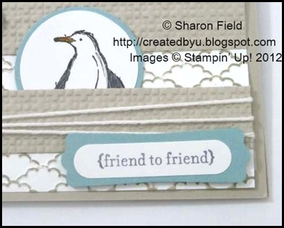 bakers twine and square lattice punching with sentiment