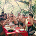 Foto tirada no sítio localizado na Travessa Benjamin 81, transversal da Rodovia Transcoqueiro, no dia 10 de setembro de 1995, por ocasião dos 60 anos do Bassalo e de sua irmã gêmea Maria. Da esquerda para a direita: Ubirajara (Bira), Glória, Marcinha, Maria, Pedro Paulo, Rosa Egídia, Pedrinho, Fátima, Pedro Pinho, Bassalo, Pedro Crispino, Rosa, Anna-Beatriz, Ana Rosa, Ádria e Antéro.