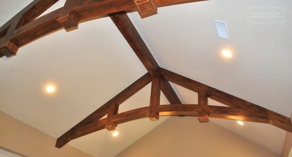 Wood beams in arched ceiling spectacular arch