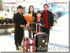 Guo-quan's wife and son 2012-01
