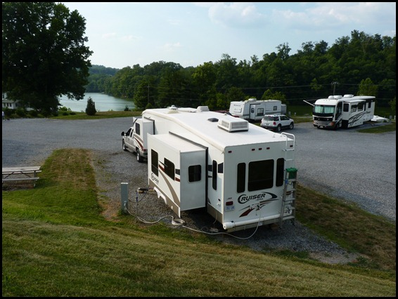 Our spot in Lakeview RV Park Bluff City TN