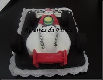 Bolo de aniversário Carro de Formula 1 (Vegan)- traseira