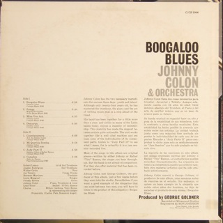 Johnny colon boogaloo blues back