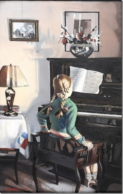 Badham, Girl at the piano, 1937