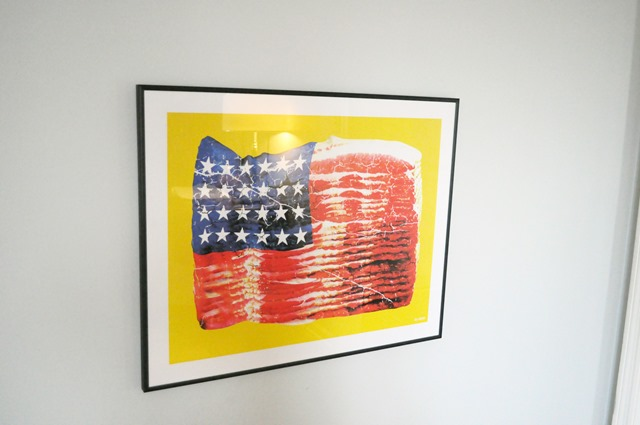 bacon flag art from Fab.com
