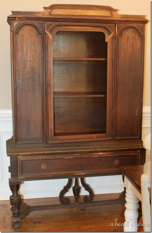 China Cabinet Cleaned Before