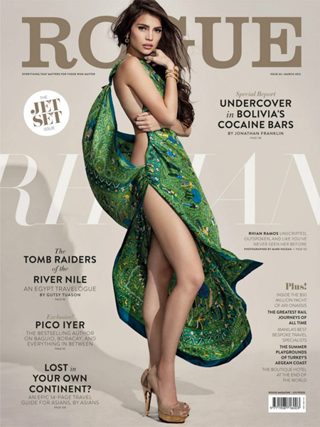 Rhian Ramos on Rogue March 2013 cover