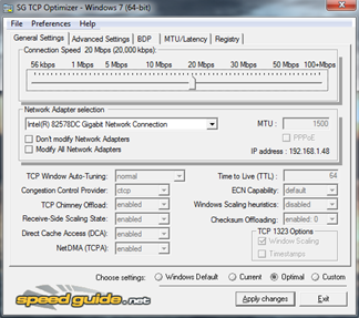 Free Internet Speed Optimizer