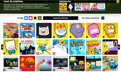 Juegos Hora de Aventura de Cartoon Network
