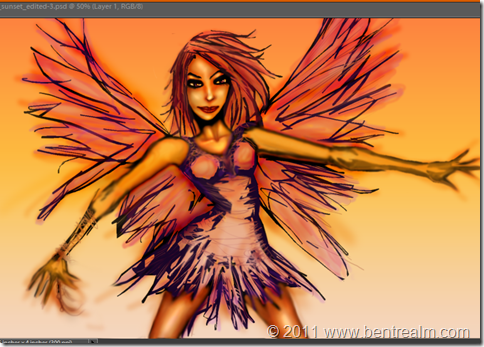 Sunset Faerie Capture