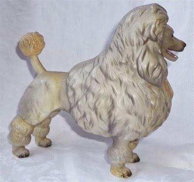 plastic poodle figurine side