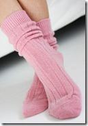 Rose Pink Bed Socks