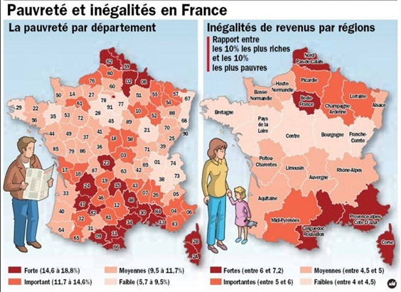 pauretats per departaments o regions