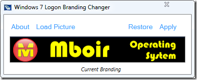 Windows 7 Logon Branding Changer - mboir