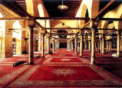 Prayer hall of the al-Azhar Mosque in Cairo, 972.