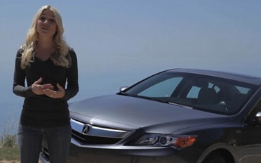 Jessi-Lang-in-front-of-2013-Acura-ILX