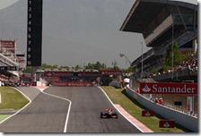 Hamilton nelle prove del gran premio di Spagna 2012