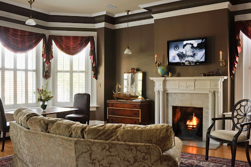 Pathfinder Suite Featuring 600 square feet of space, working gas fireplace, flat screen TV, and more. photo by Tony Giammarino