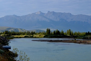 Athabasca River and the Rockies
