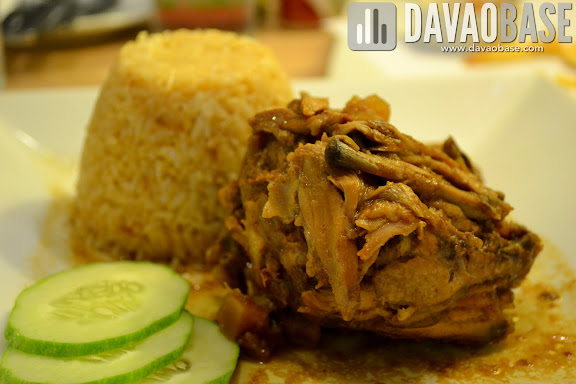 Hickory Chicken with Garlic Barbecue Rice at Cafe Demitasse