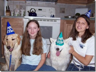 Anna, April and their Dogs