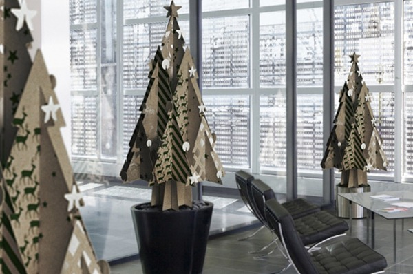 recycledcardboardchristmastrees