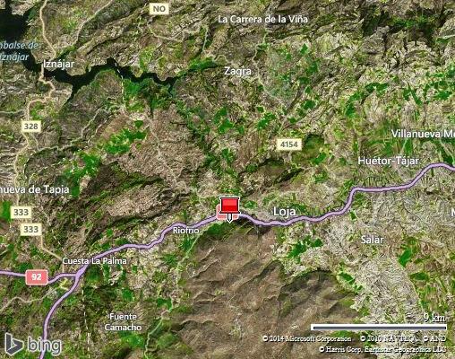 Loja sur l'A92 entre Malaga et Grenade