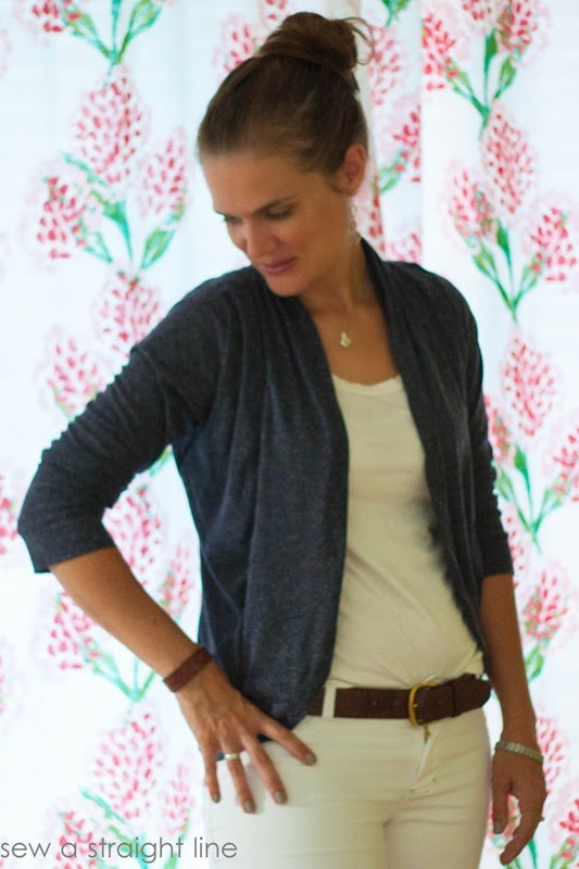 julia cardigan and white jalie jeans straight leg sew a straight line-6