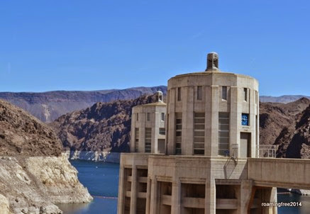Nevada side of the dam