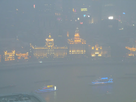 Obiective turistice Shanghai: Bund by night