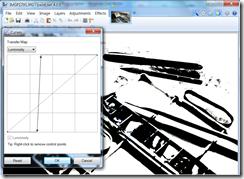 Paint.NET  Curves dialgue screen