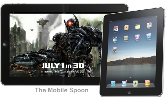 wide iPad Mobile Spoon with flexible screen