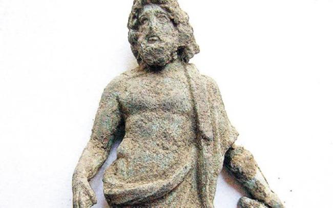 Χάλκινο αγαλματίδιο από ιερό στο Βαθύ Ιθάκης