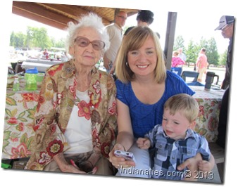 Enjoying family at the Niehaus Reunion.