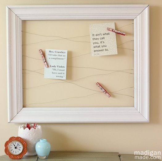 wire framed memo board tutorial - madiganmade.com