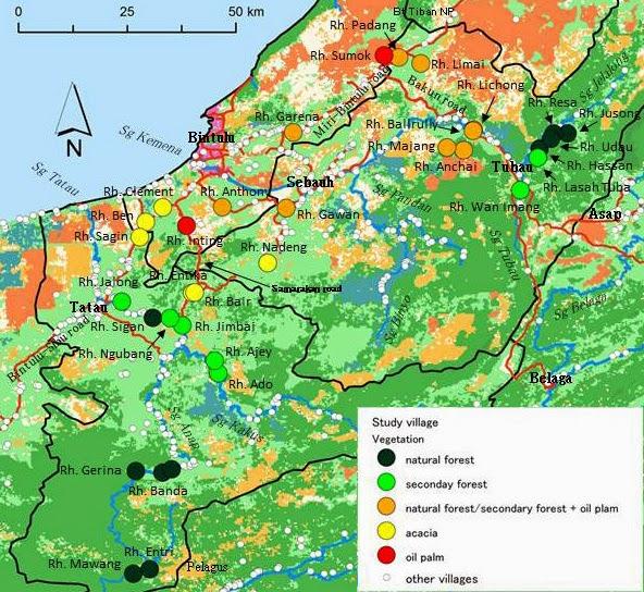 図1:調査村の位置 / Fig. 1: