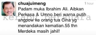 Kenyataan Chua Jui Meng Beekaitan Isu Sampul Putih Ibrahim Ali